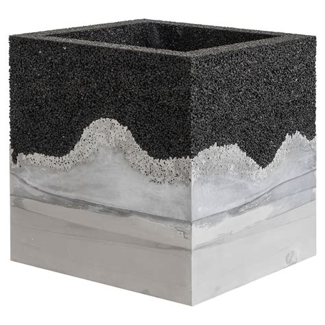 Granite Planter by Gray Cement And Crushed Granite Planter By Fernando