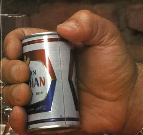 giant drink copyranter andr 233 the giant holding a 12 oz can of beer