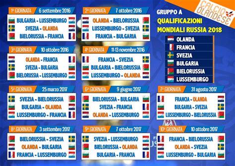 Calendario Qualificazioni Mondiali Olanda A Caccia Della Qualificazione Al Mondiale 2018 La