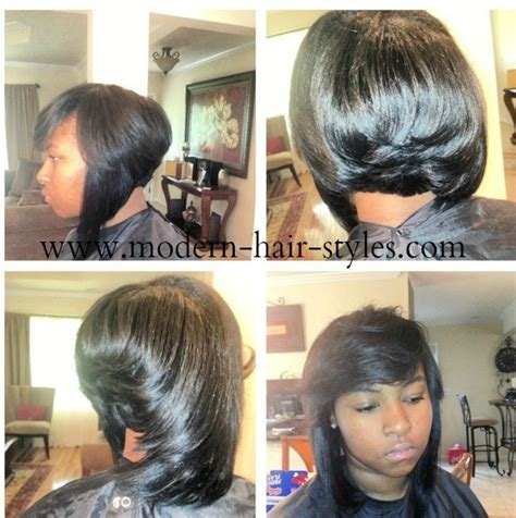 black short bob and feathered out pictures of black hairstyles protective natural and