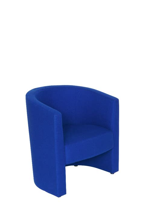 tub chair in black or blue fabric office furniture