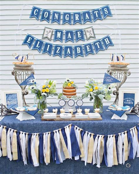 Denim Decorations by Kara S Ideas To Success Denim Graduation