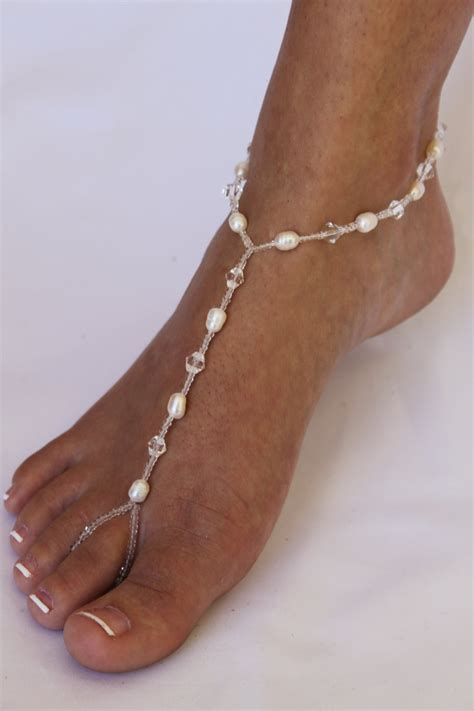 freshwater pearls barefoot sandals foot jewelry