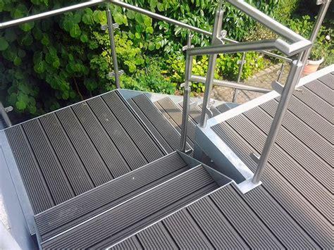 wpc treppenstufen gel 228 nder u treppen l p metall gbr metallbau osnabr 252 ck