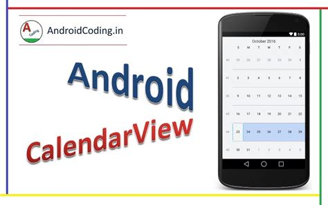 android studio calendar tutorial android calendarview tutorial in android studio