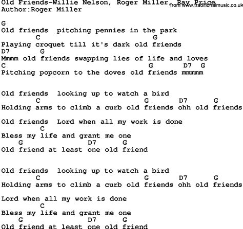 song lyrics willie nelson country friends willie nelson roger miller