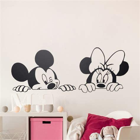 Mickey And Minnie Mouse Home Decor Cartoon Mickey Minnie Mouse Cute Animal Vinyl Wall