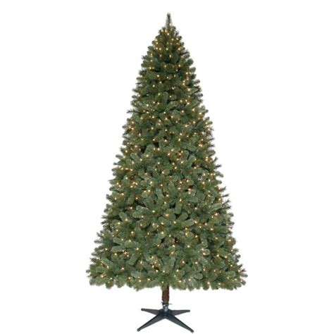 home depot alexandria pine tree home accents 9 ft pre lit wesley spruce set artificial tree with