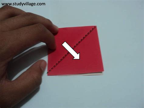 how to make an knife paper boat step 4