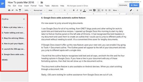 book layout google docs google docs adds automatic outline feature cnet