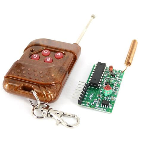 1 Set Wirelles Remote Kit Transmitter Receiver 4 channel 315m wireless remote transmitter receiver kit free shipping dealextreme