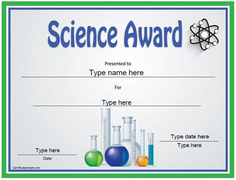 free educational certificate templates education certificate science award template