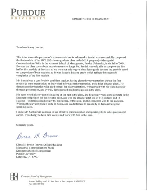 Reference Letter Interpersonal Skills reference letter communication skills diana brown