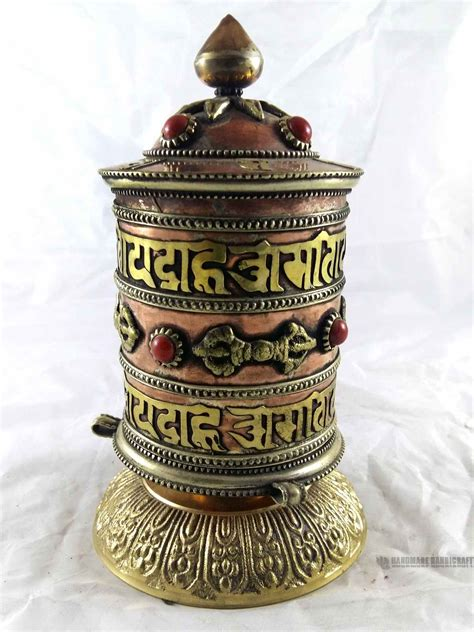 Frame L Siku K005 18 5cm handmade handicraft table stand prayer wheel prayer wheel on wooden frame held prayer