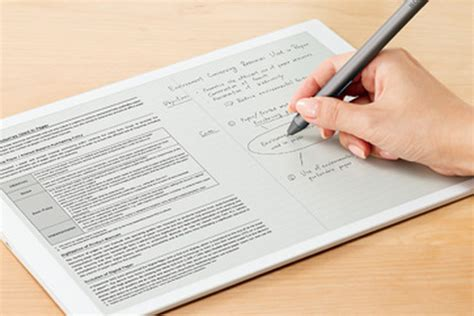 paper writing tablet sony s 700 e paper tablet is a great exle of