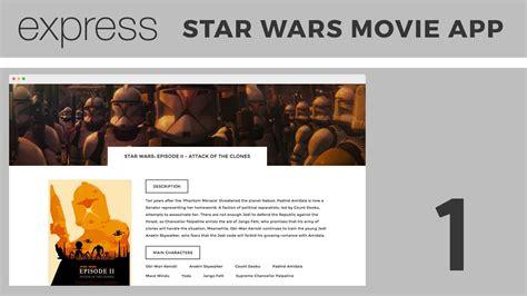 express js app layout beginner express js tutorial building a star wars movie
