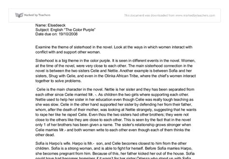 Critical Analysis Essay On The Color Purple by Sle Essays On The Color Purple