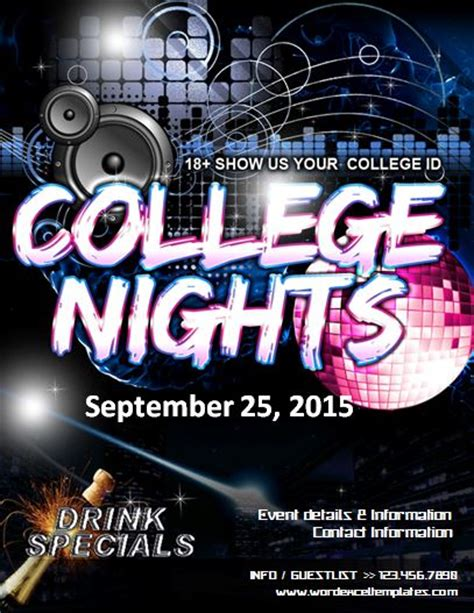 College Night Flyer Template