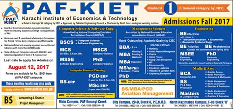 General Management Mba Rankings by Admission In Paf Karachi Institute Of Economics And
