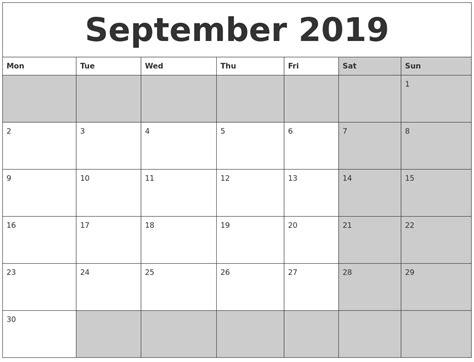 september 2019 calendar september 2019 calanders