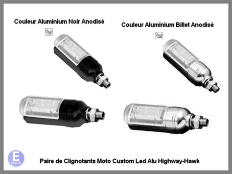 Lu Led Motor Custom clignotants moto custom led alu highway hawk aluminium