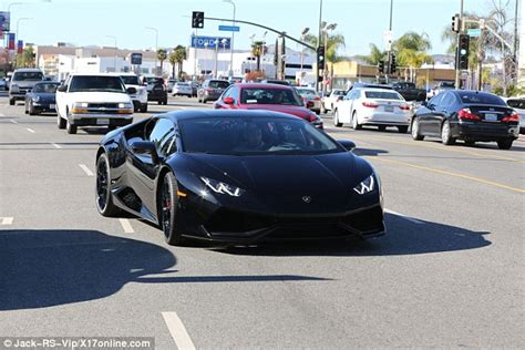 Christian Lamborghini Shoes Tyga Leaves Lamborghini Dealership Driving Aventador Model