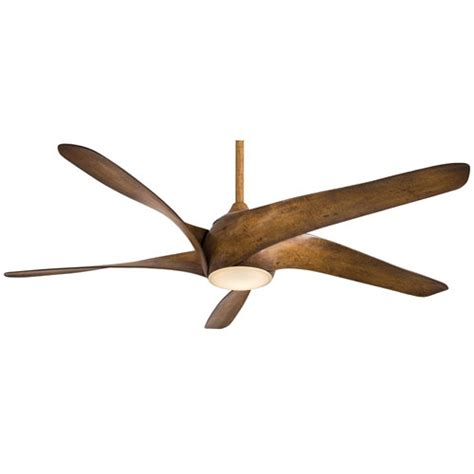 koa wood ceiling fan minka aire artemis distressed koa wood 62 inch led ceiling
