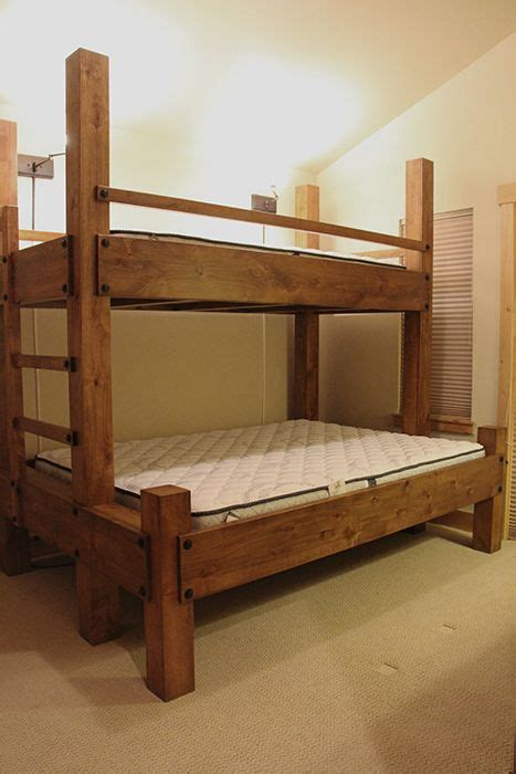 twin xl  queen bunk bed  integrated ladder shown