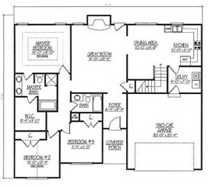 Rectangle House Plans One Story House Plan 54440 At Familyhomeplans Com