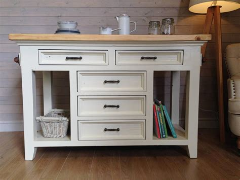rustic solid pine granite kitchen island shabby chic