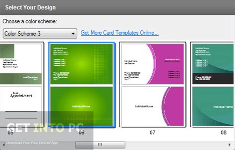 cardworks business card software templates cardworks business card software free
