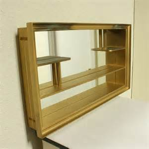 box with shelves vintage shadow box mirrored shelves wall hanging