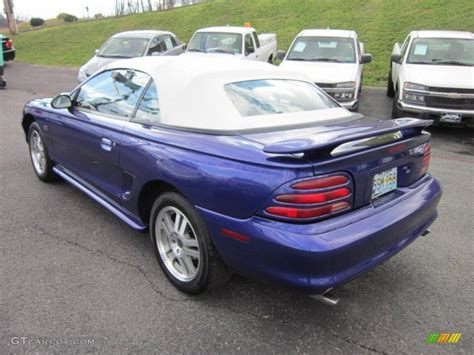 1995 white mustang 1995 sapphire blue metallic ford mustang gt convertible