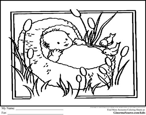 preschool bible coloring pages moses moses in the bulrushes coloring page google search pre