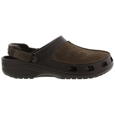 clogs for uk crocs yukon mesa clog mens black brown leather clogs shoes