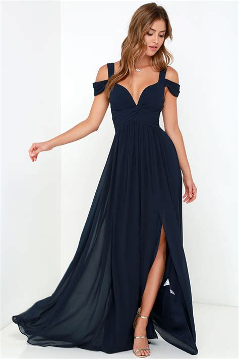Elegance Dress navy blue dress maxi dress cocktail dress prom dress bridesmaid dress 179 00