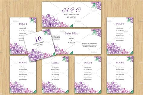 wedding seating chart template stationery templates