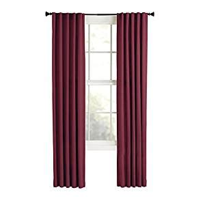 solid red curtains com style selections bernard 84 in l solid red