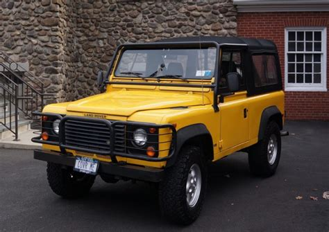 original land rover defender original owner 1997 land rover defender 90 for sale on bat