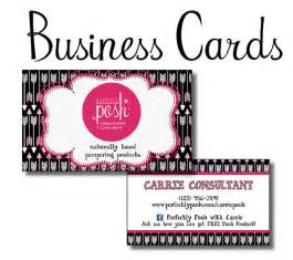 perfectly posh business cards items similar to perfectly posh diy business cards for