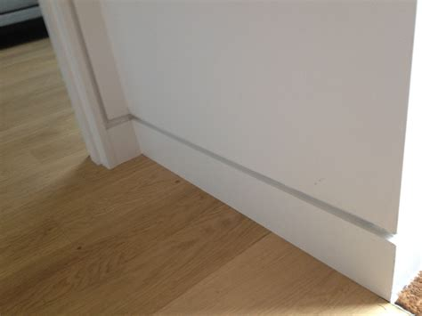 baseboard conduit shadow gap modern skirting board doesn t to go