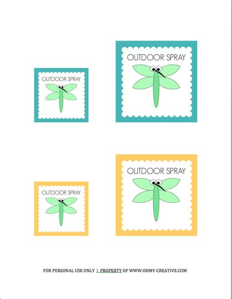 Printable Exterior Labels | all natural outdoor spray oh my creative