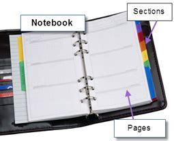 sectioned notebook onenote university of leicester