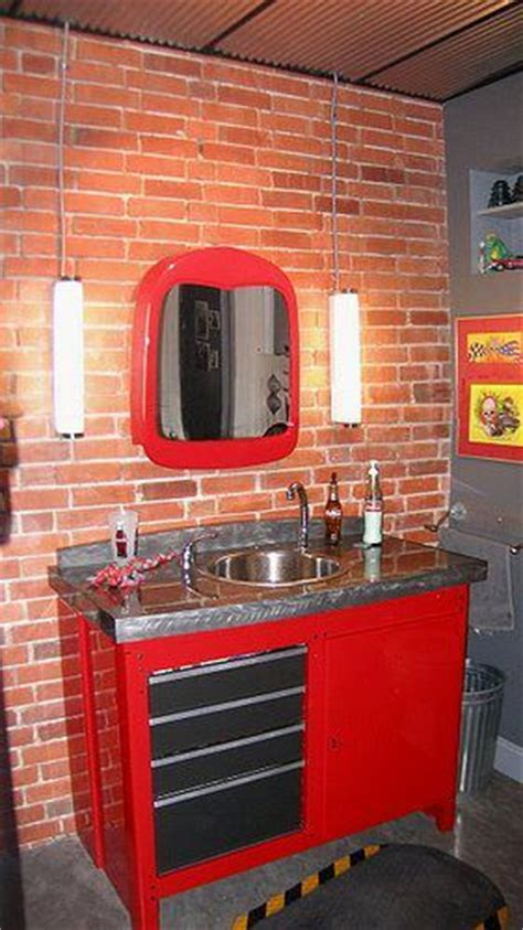 garage bathroom craftsman workbench sink for the home pinterest