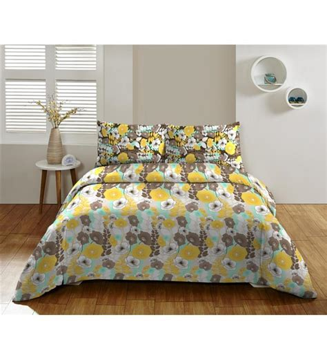 yellow pattern sheet set dicitex yellow floral cotton king bed sheet set by dicitex