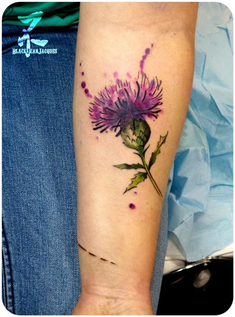 watercolor tattoos baltimore the 25 best scottish thistle ideas on