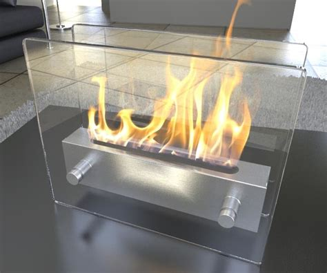 Portable Smokeless Fireplace by Modern Bio Ethanol Fireplaces Ventless Smokeless