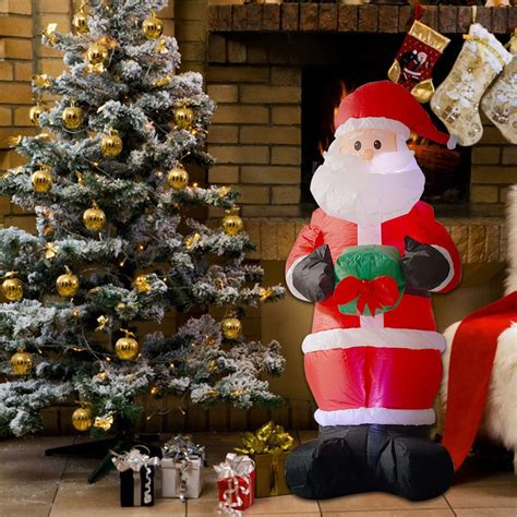6ft airblown inflatable christmas santa claus xmas outdoor