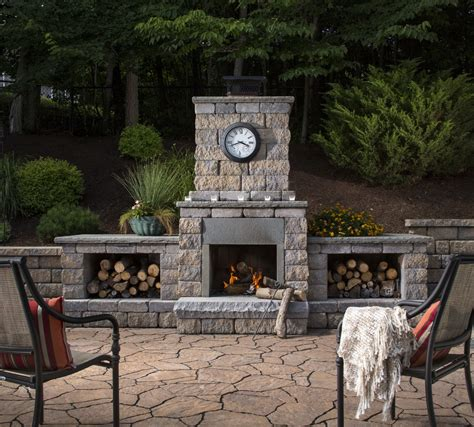 outdoor fireplace logs looking decorative fence panels in patio other metro