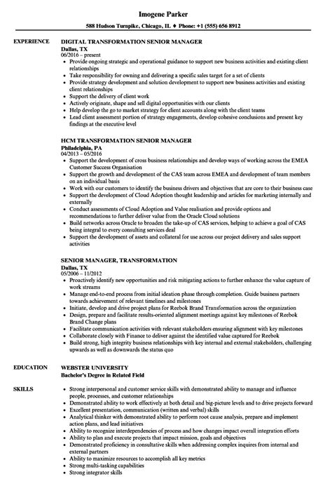 sle resume for experienced marketing professional digital transformation manager cv digital photos and
